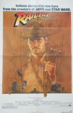 Raiders of the Lost Ark (1981) Film Poster Harrison Ford, Amsel Art - US One Sheet